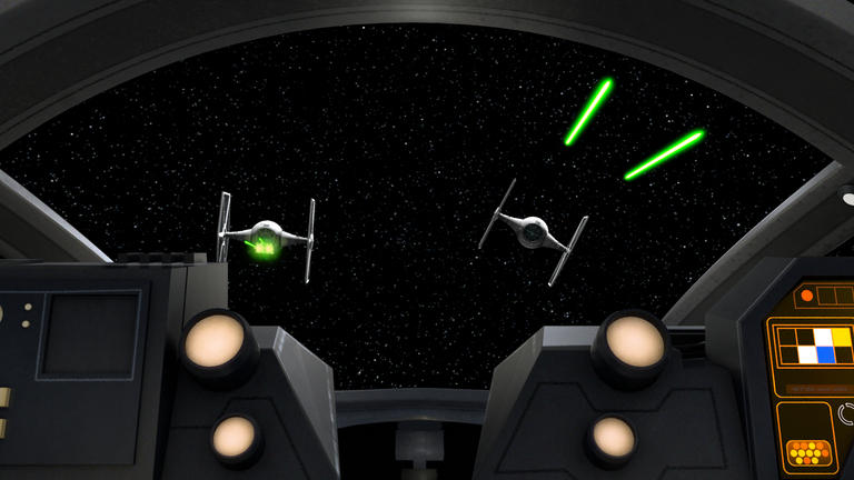 These spaceships were used by the Galactic Empire