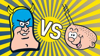 Billy Whizz versus Bananaman: Vote NOW!