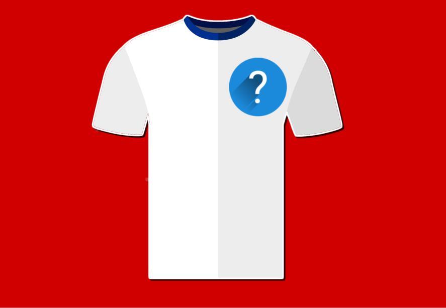 A white football shirt
