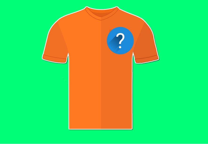 A bright orange football shirt