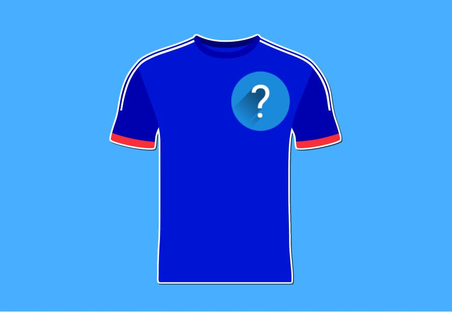 A blue and red football shirt