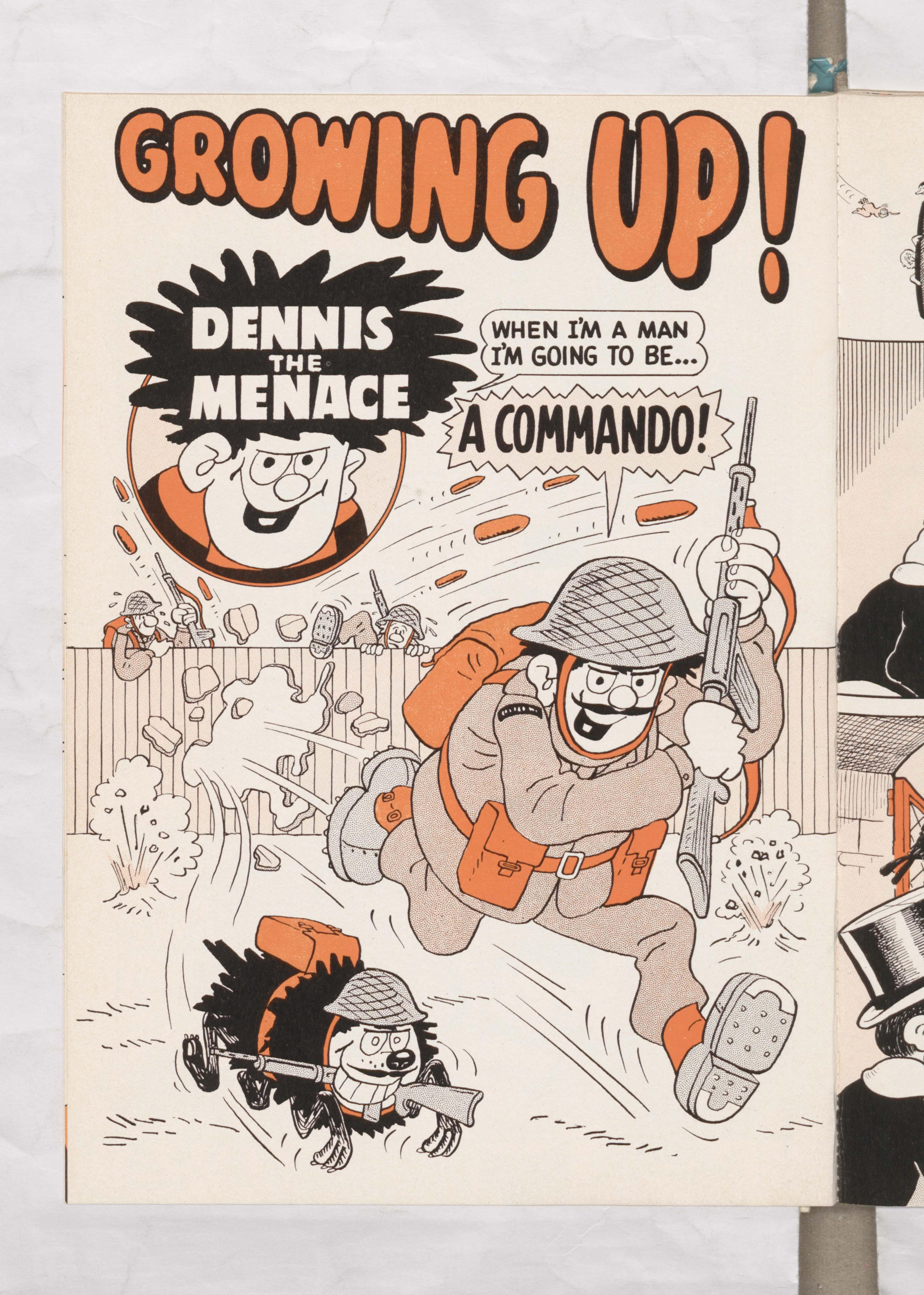 Beano Book 1976 Annual - Dennis grows up
