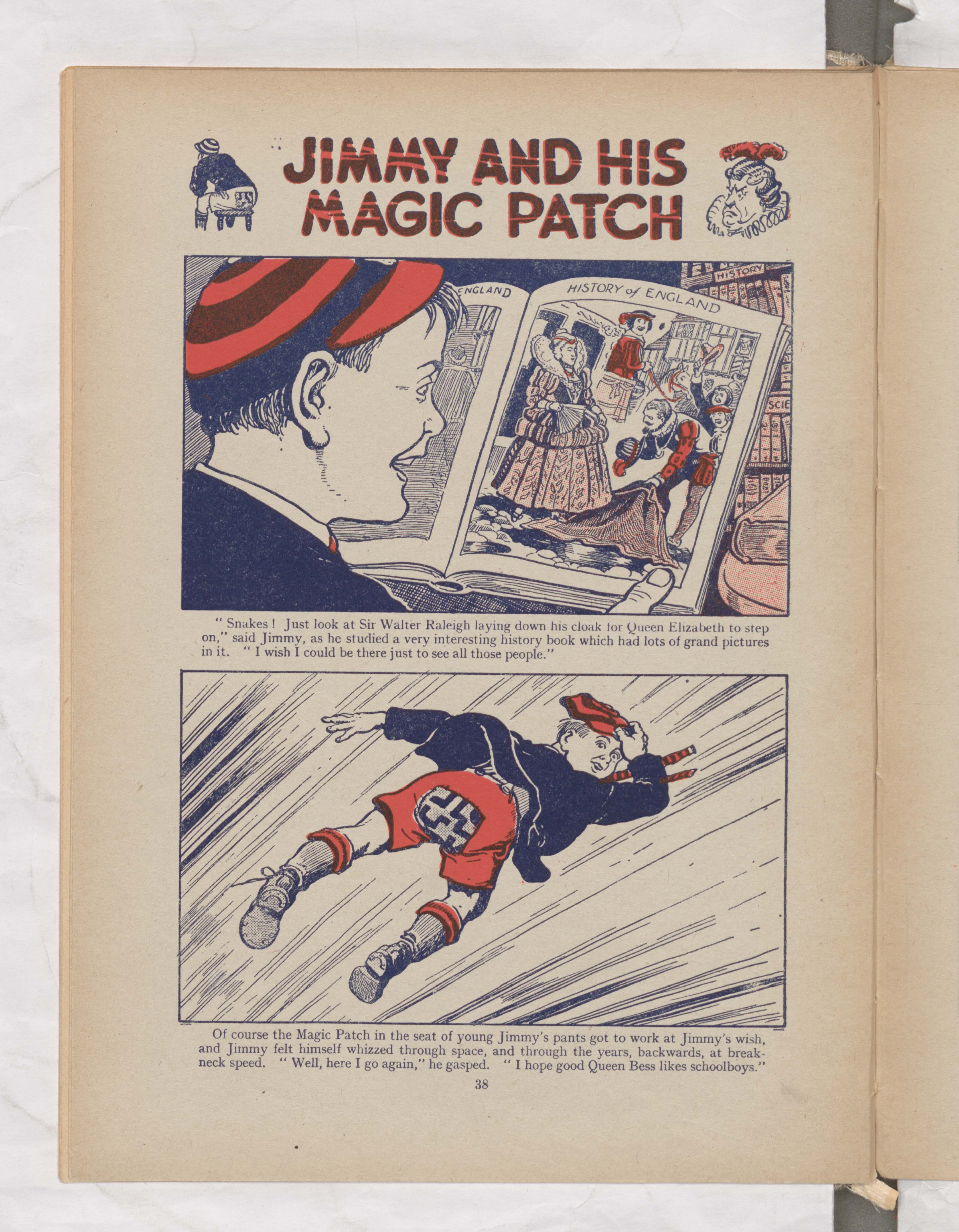 Jimmy and His Magic Patch - Page 1 - Beano Book 1944 Annual