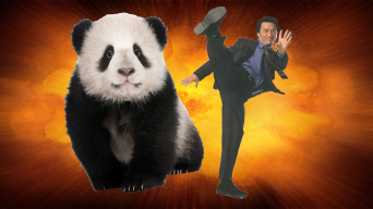Jackie Chan and a big panda