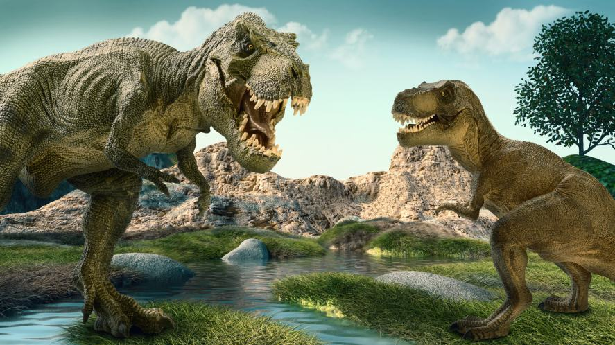 Some dinosaurs in happier times