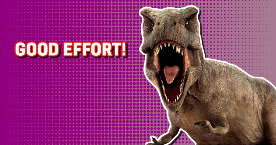 Dinosaur quiz: a good score!