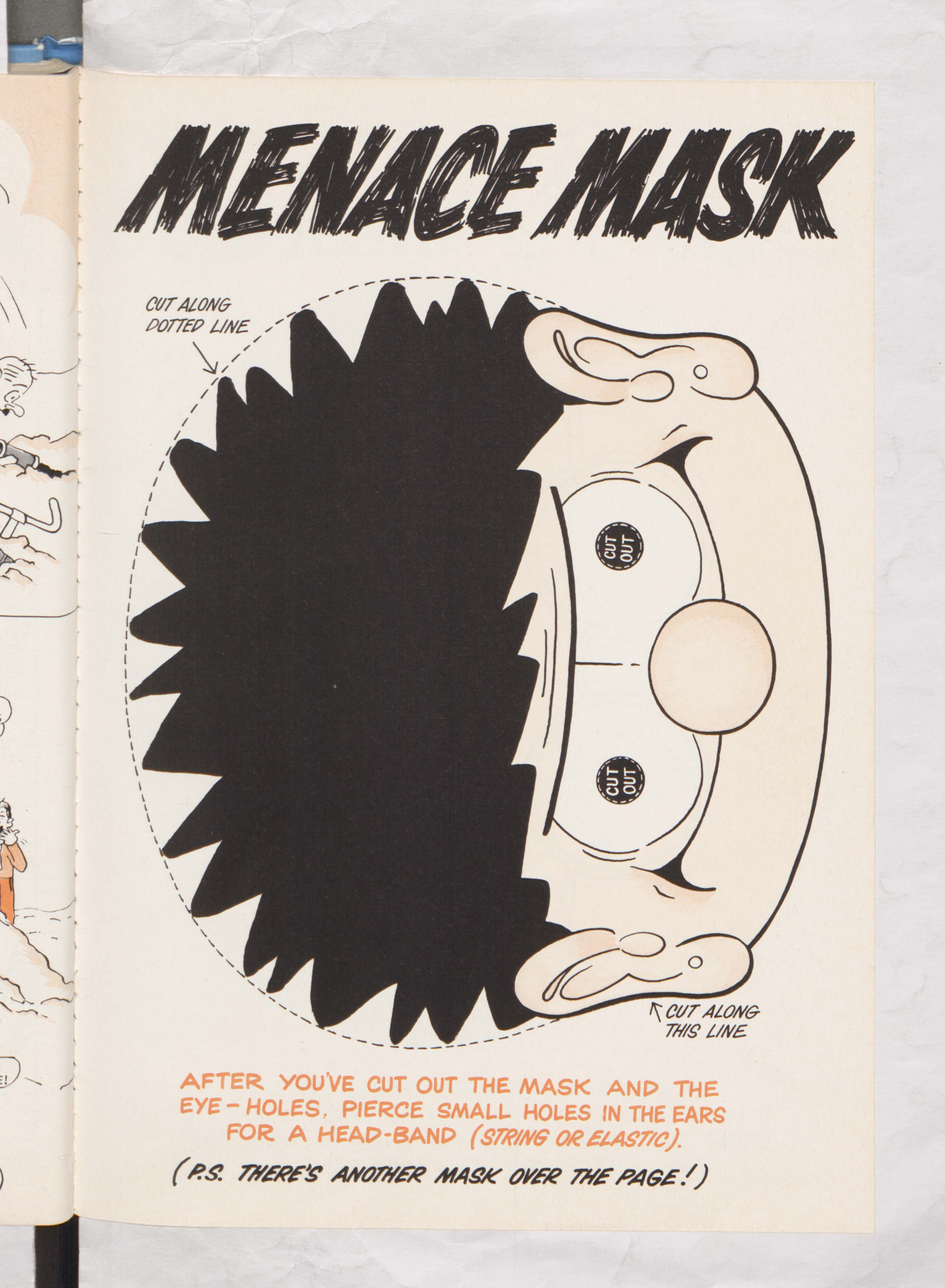 Double Sided Menace Mask? - Beano Book 1980 Annual