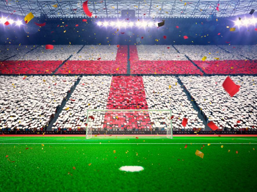 An English football stadium
