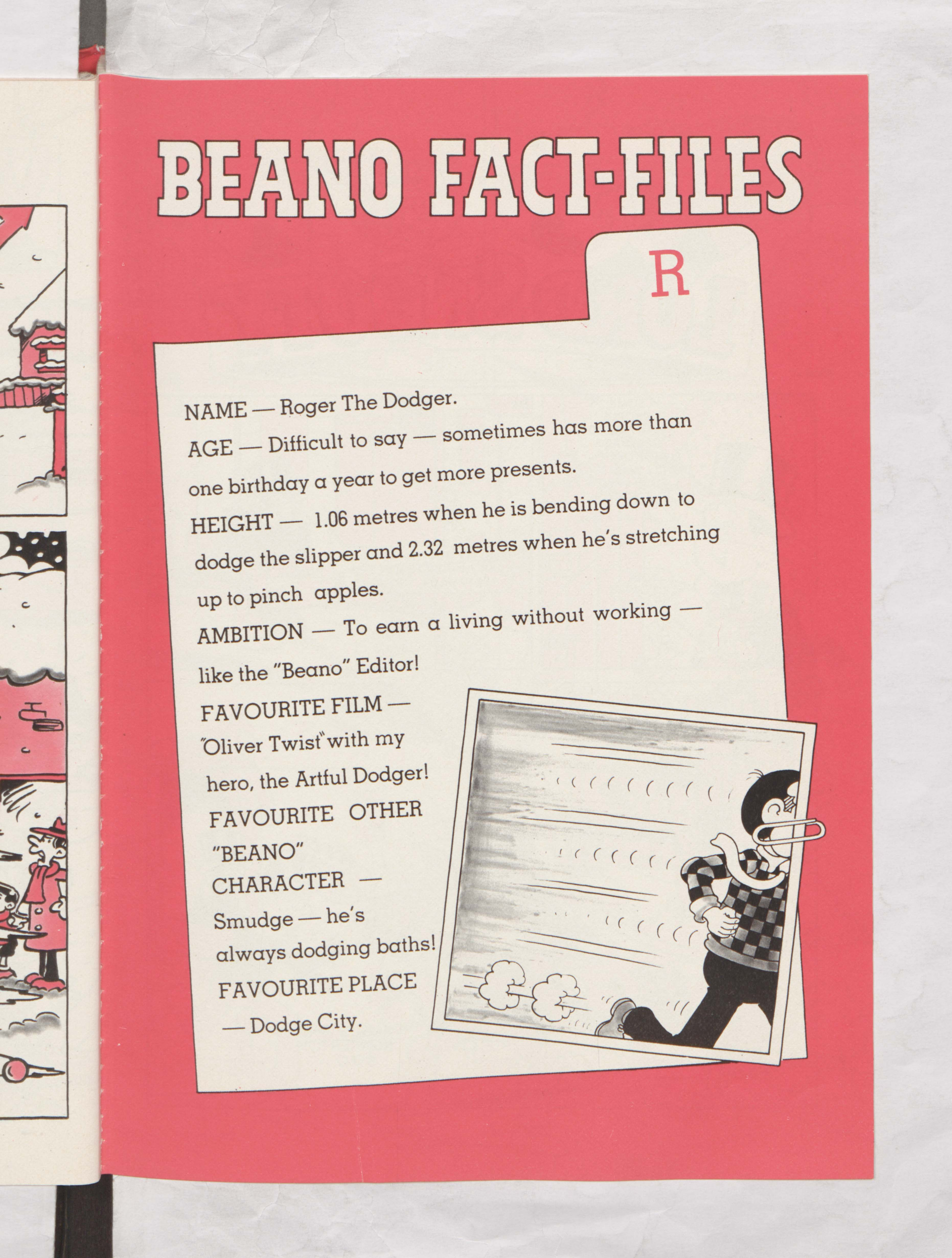 Roger the Dodger Beano Book 1987 Annual