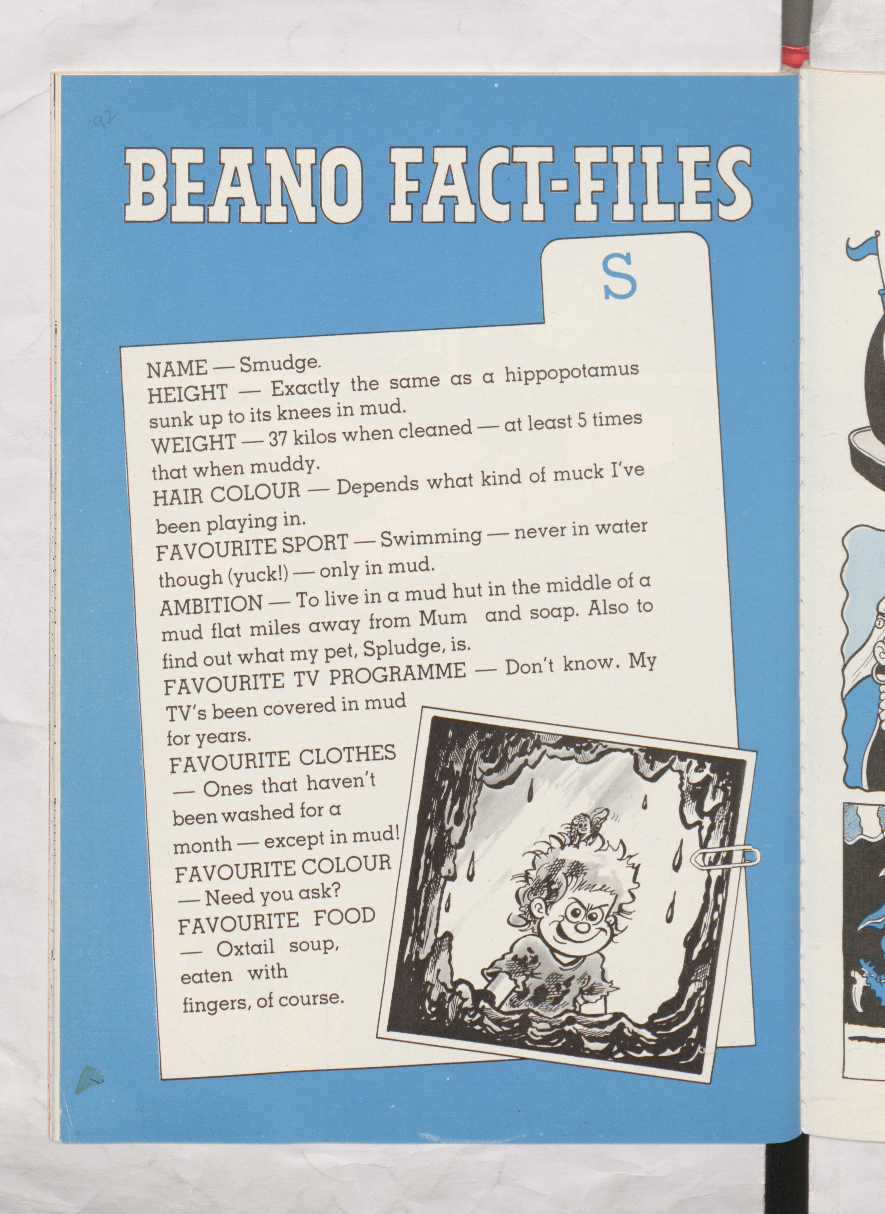 Smudge Beano Book 1987 Annual