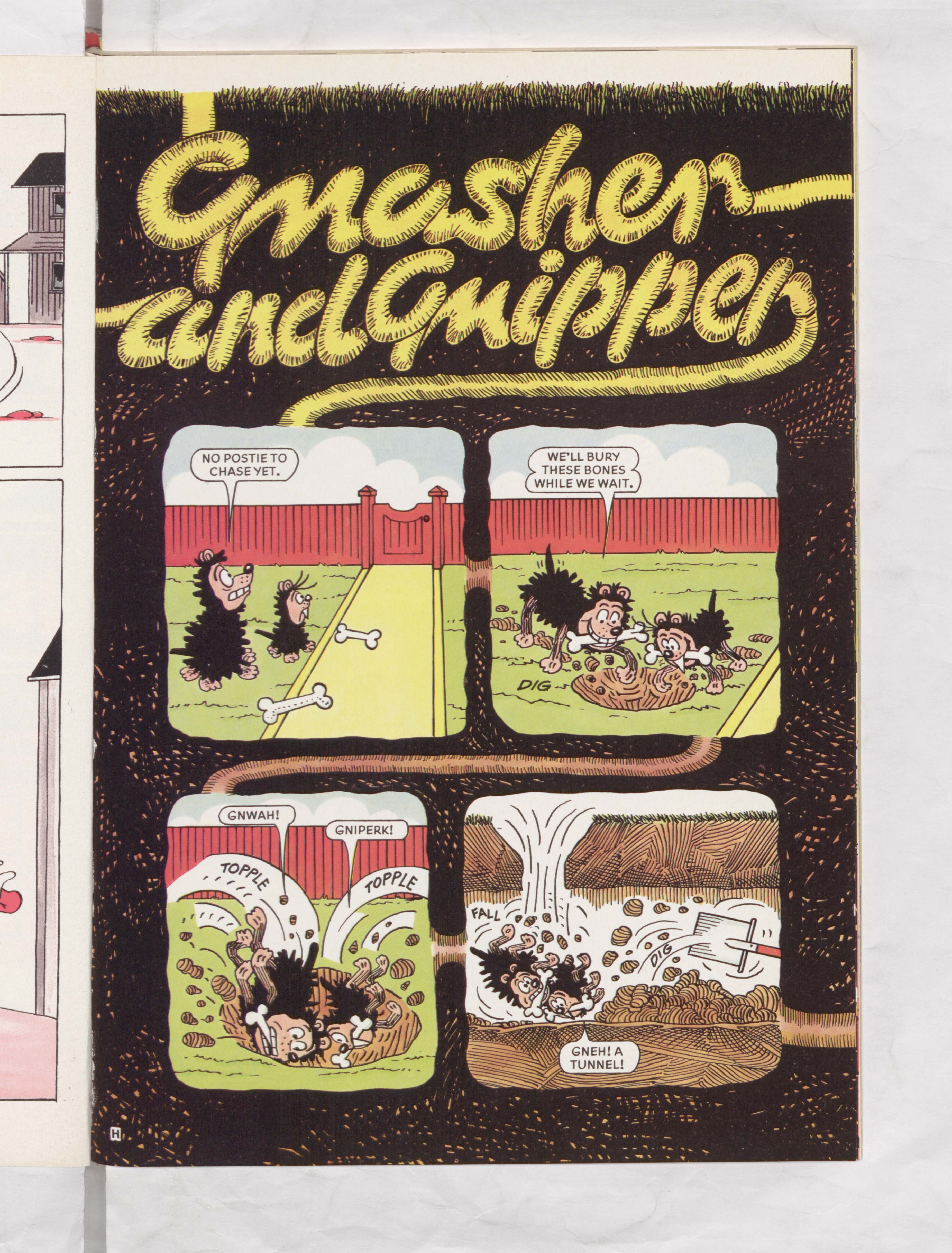 Gnasher Gnipper Beano Book 1989 Annual