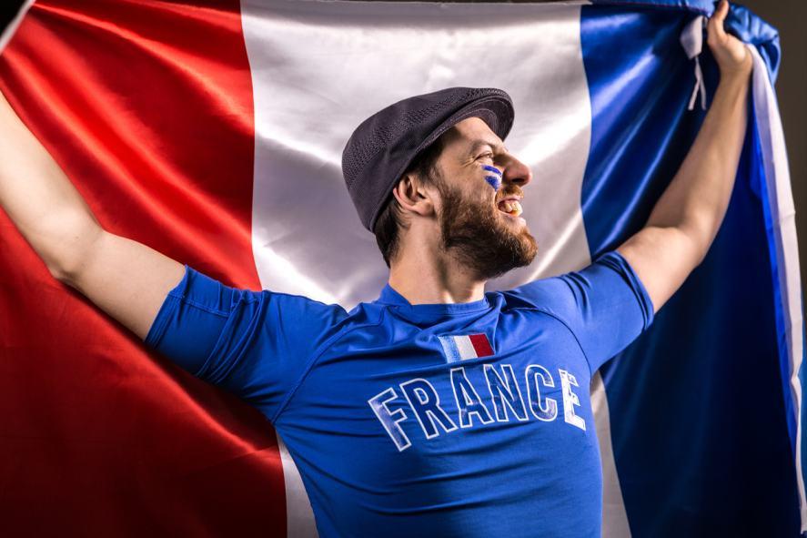 A French football fan
