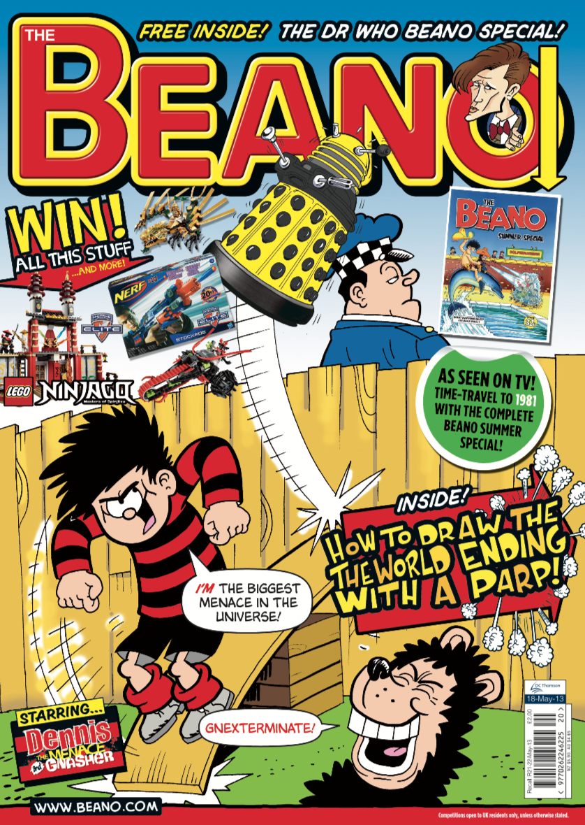 The Beano, published May 18 2013 came with a reprint of the 1981 Summer Special