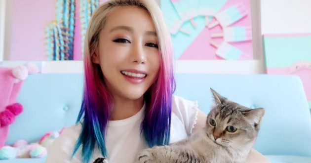 Wengie and her pet cat