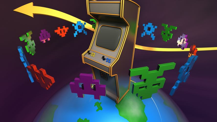 Old school video arcade