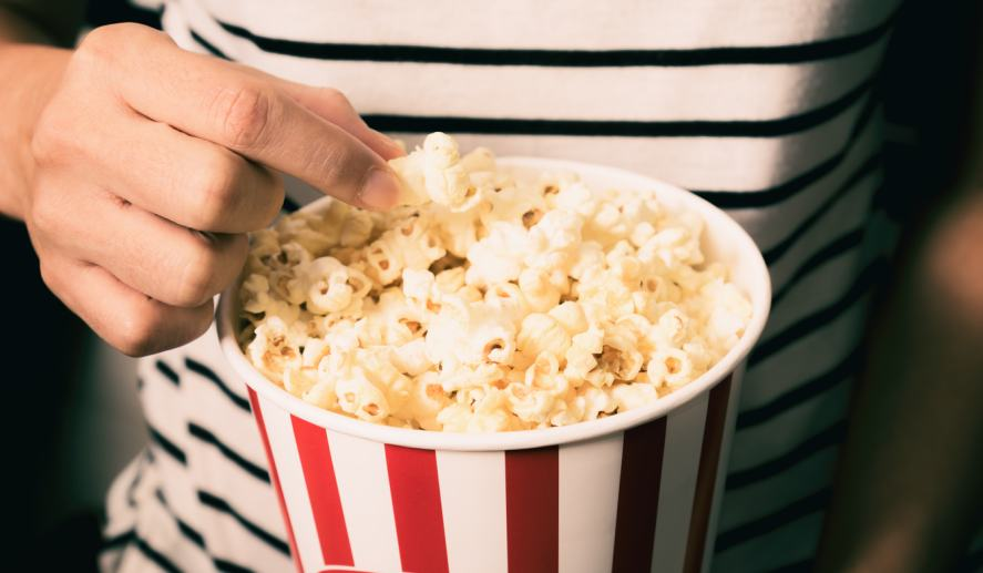 A serving of popcorn