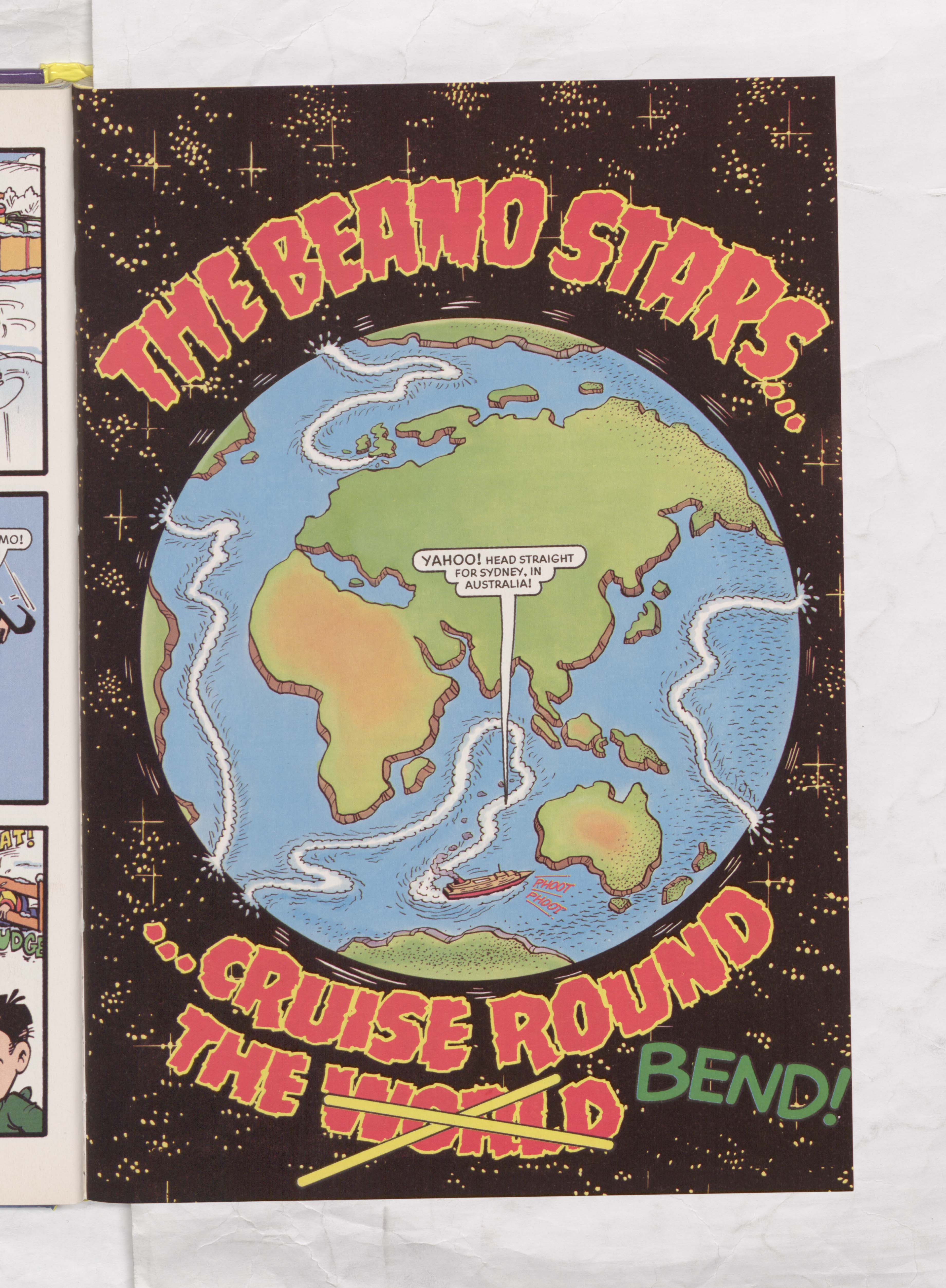The Beano Stars Cruise Round the World - Beano Book 2000 Annual - Page 1