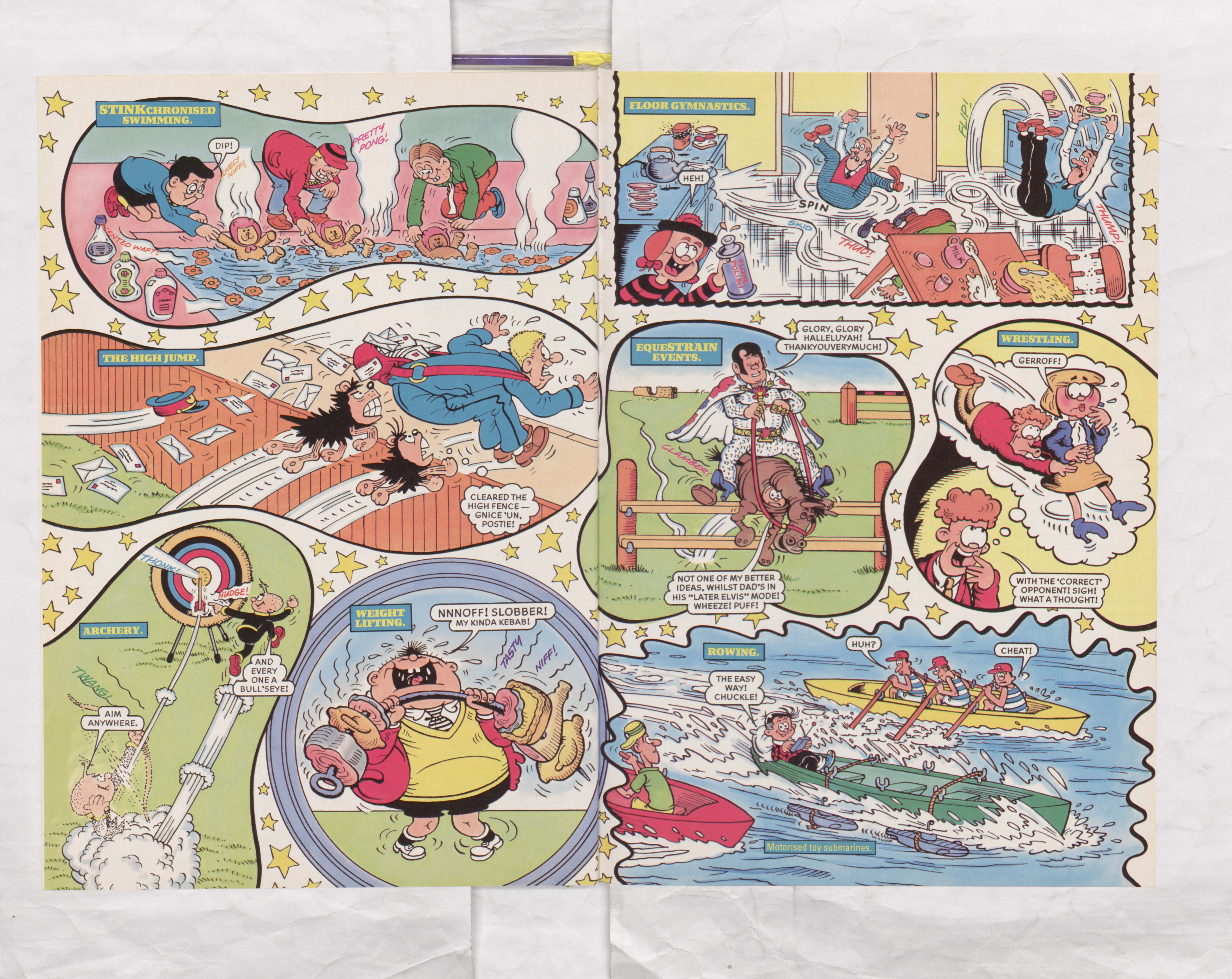 The Beano Stars Cruise Round the World - Beano Book 2000 Annual - Page 12 and 13