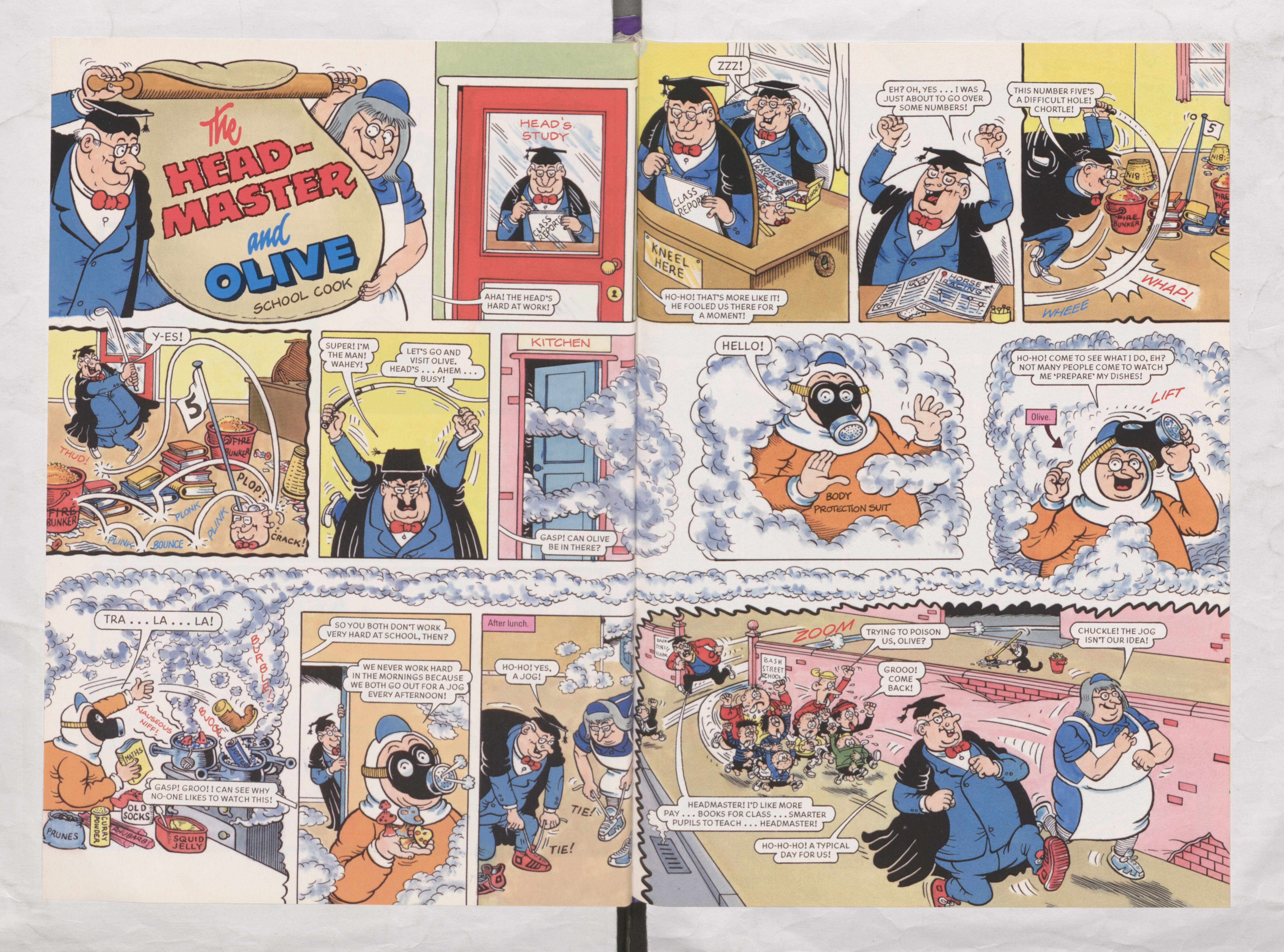 The Headmaster and Olive - Beano Annual 2002