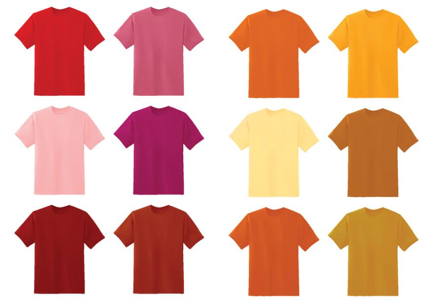 A selection of T-shirts
