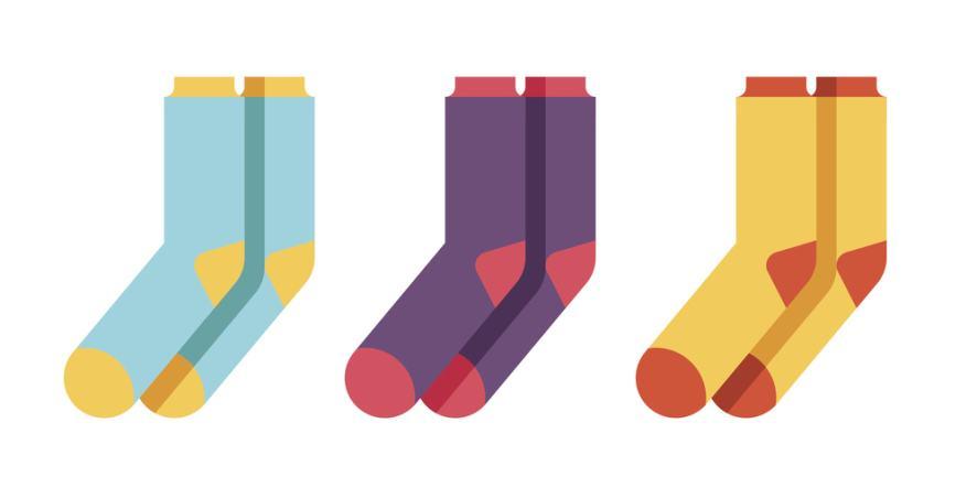 Some colourful socks
