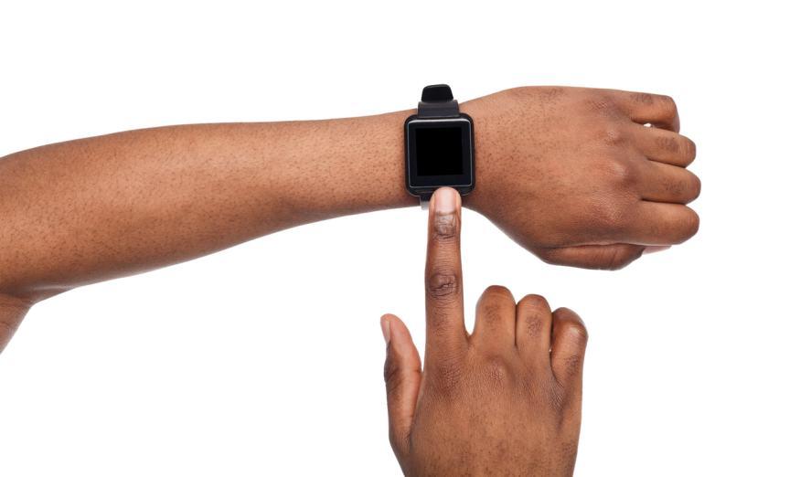 A man wearing a smart watch