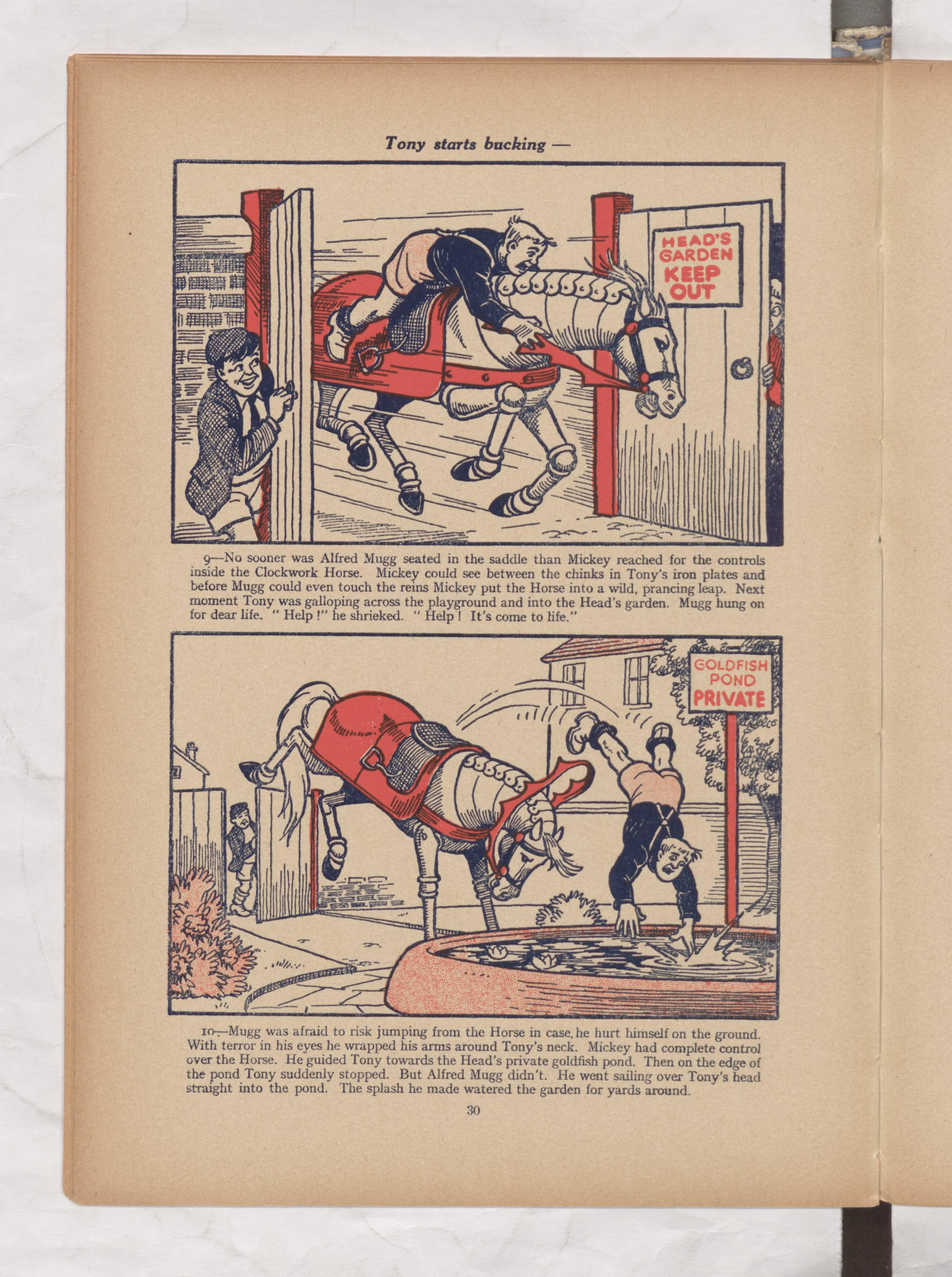 tick tock tony beano book 1952 annual