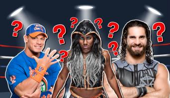 John Cena Ember Moon and Seth Rollins
