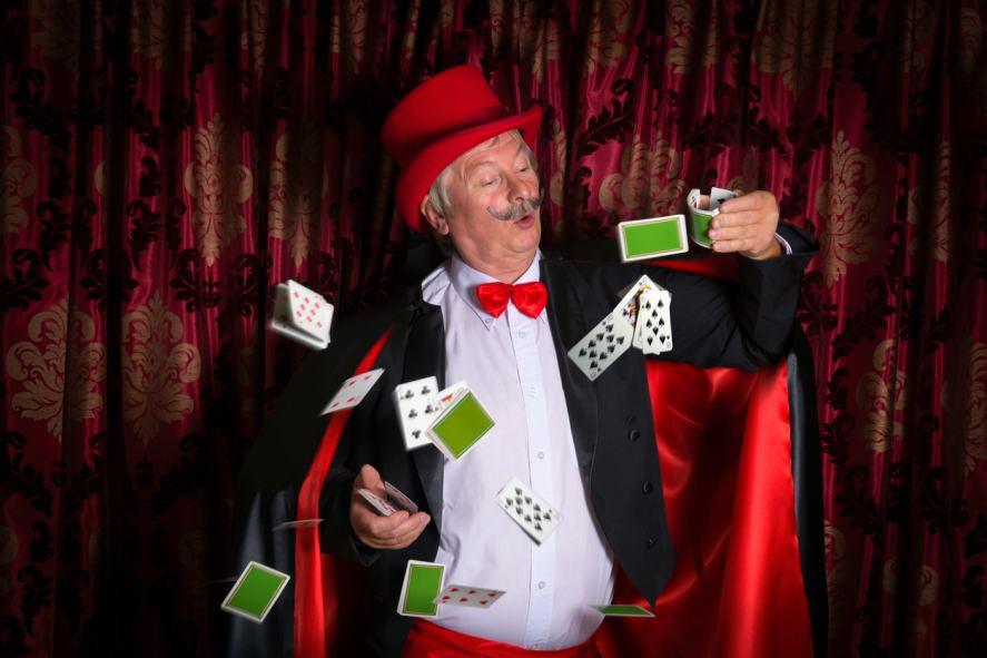 A clumsy magician