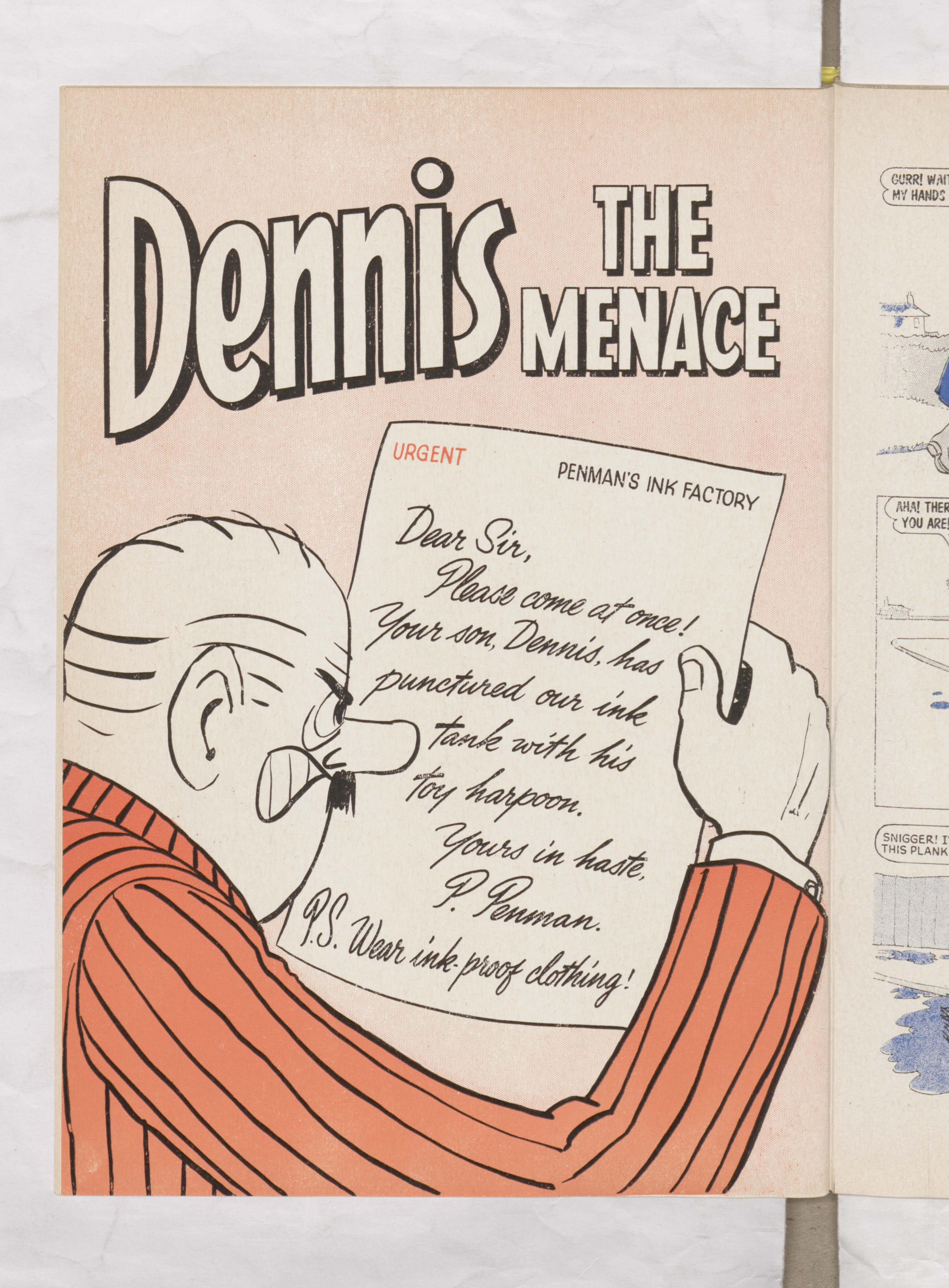 Dennis the Menace at the ink factory - Beano Book 1967