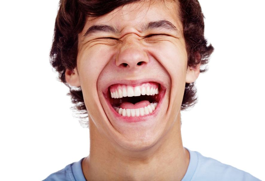 A laughing young man