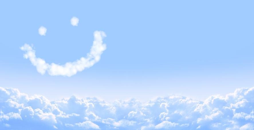 A smiling cloud
