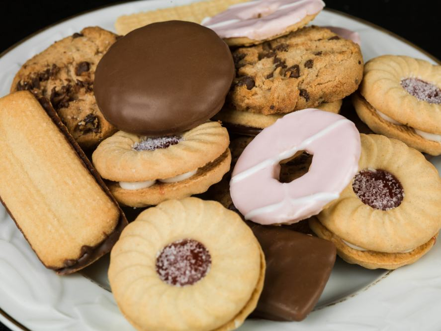 A plate of biscuits
