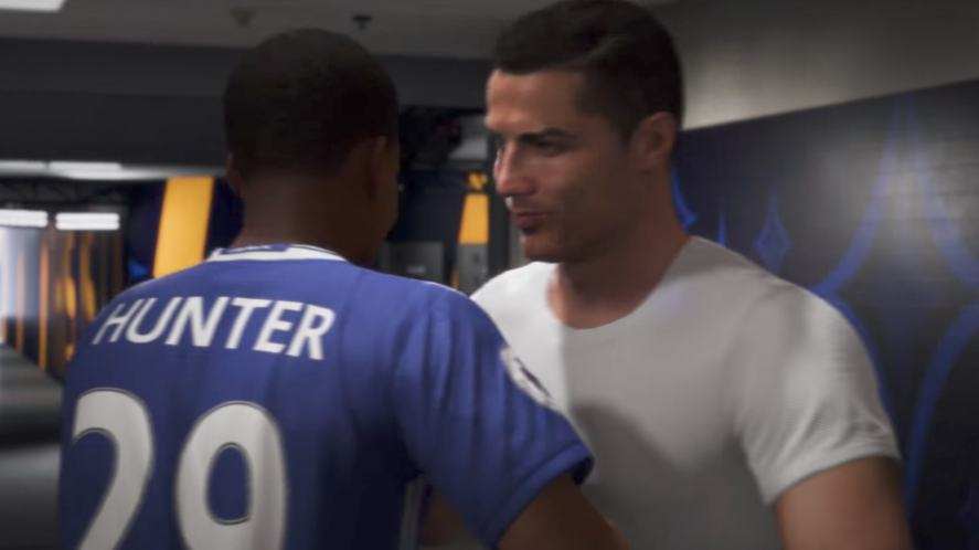 Alex Hunter and Cristiano Ronaldo in FIFA 18