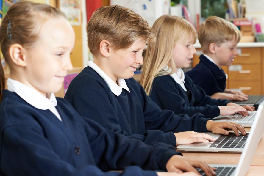 School Children In Computer Class