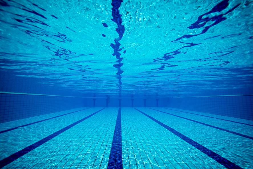 Underwater shot of a swimming pool