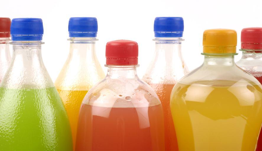 Bottled fizzy drinks