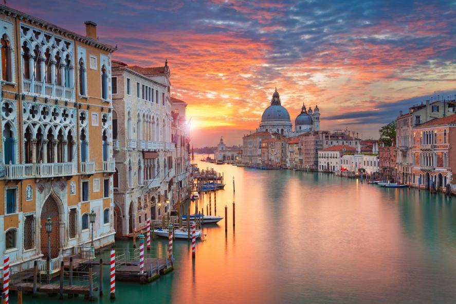A stunning shot of Venice