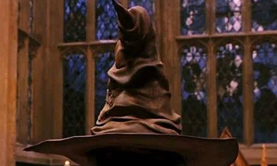Sorting hat in Harry Potter