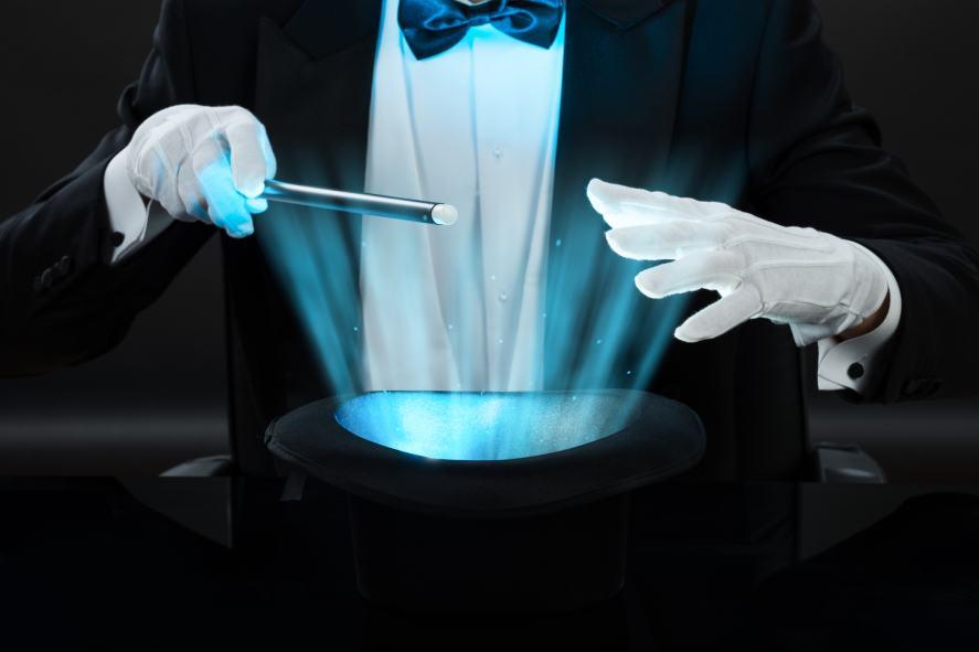 Magician Holding Magic Wand