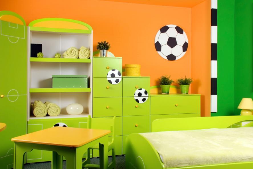 A football fan's bedroom