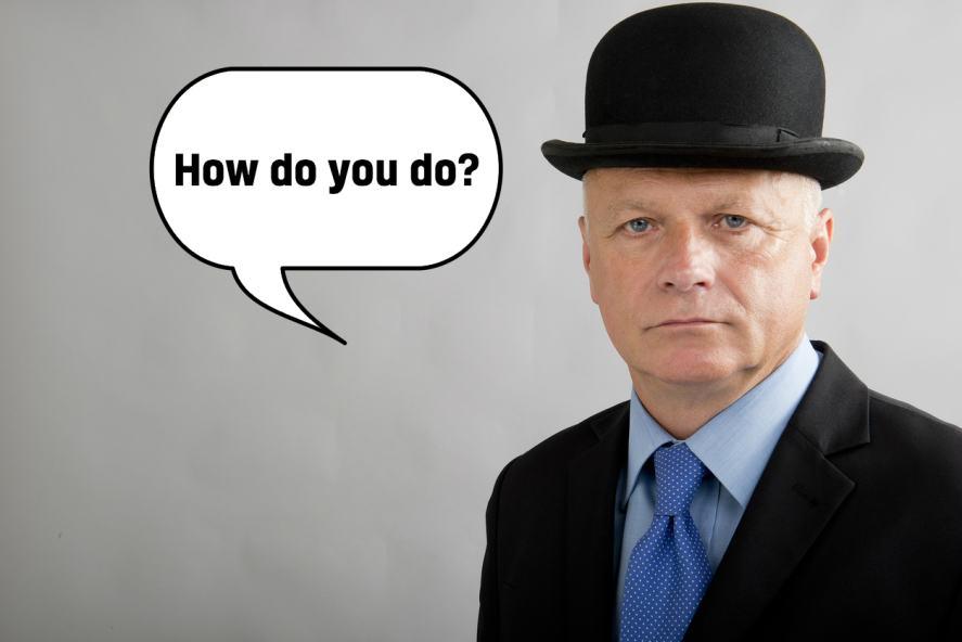 An Englishman in bowler hat