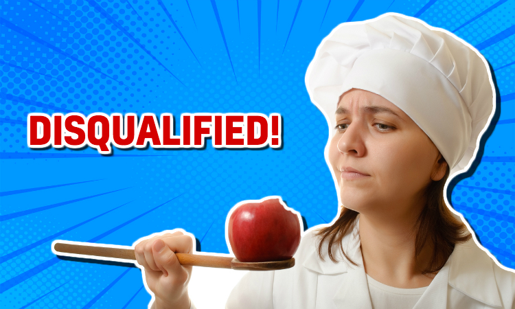 Great British Bake Off –disqualified!
