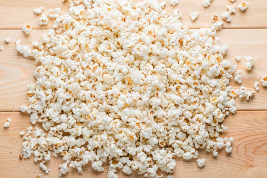 A huge pile of popcorn