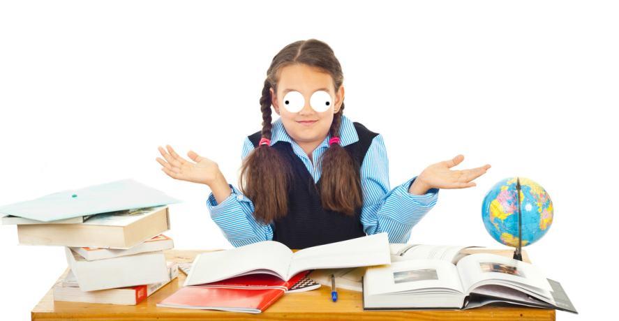 A school student shrugs at the big questions