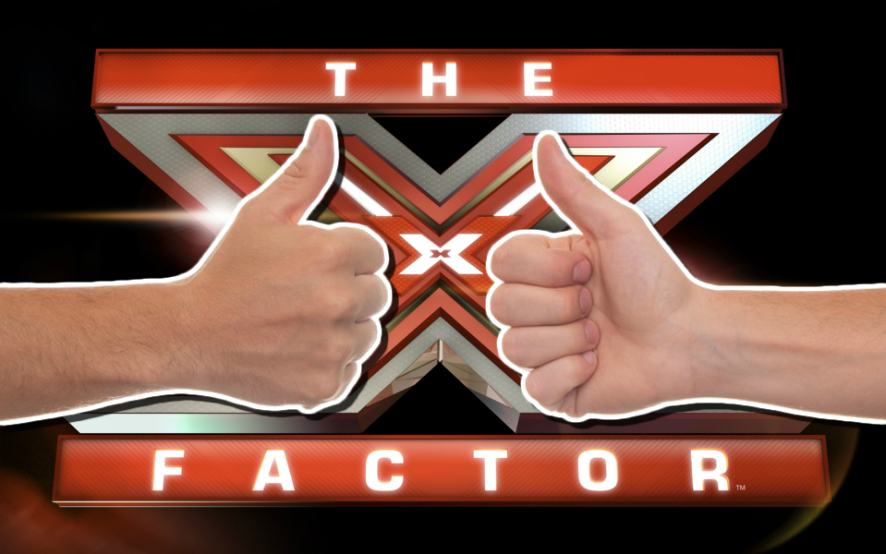 The X Factor and two thumbs up
