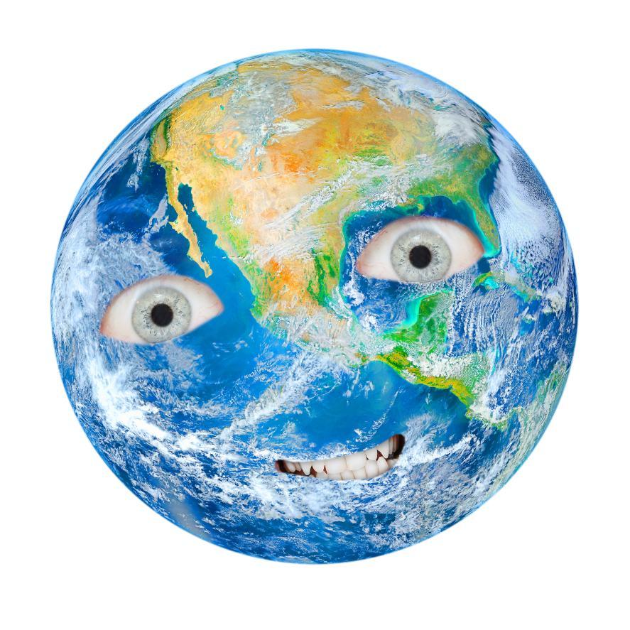 A globe with eyes    Baby Shark Quiz