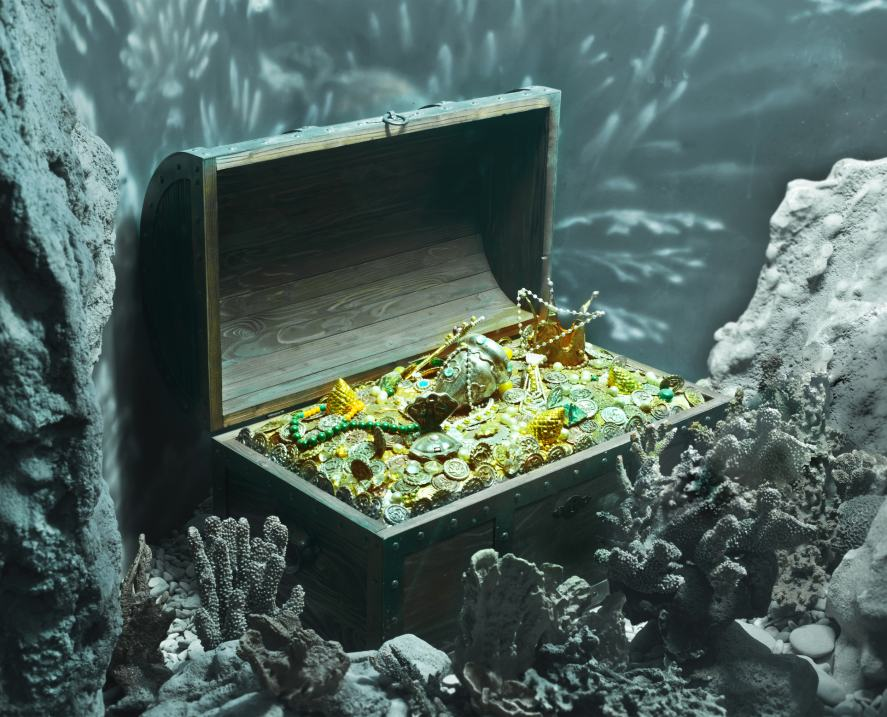 A Treasure chest full of gold
