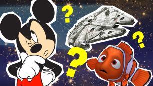 Mickey Mouse, Nemo and a Millennium Falcon