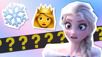 Elsa confused by emojis